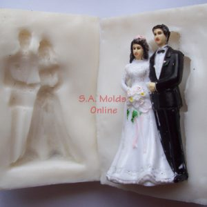 3 D Bride and Groom Silicone Mold