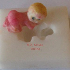 Small Kneeling baby Silicone Mold