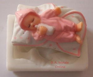 Baby on Blanket Silicone Mold