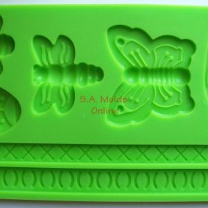 Bug and Rope Theme Set Silicone Mold