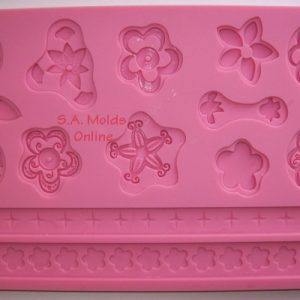 Floral and Rope Theme Set Silicone Mold