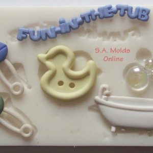 Baby Fun in the tub Silicone Mold