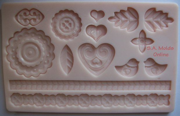 Garden Love Theme set Silicone Mold