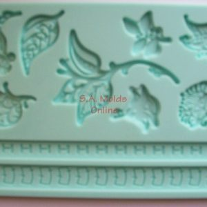 Leaf and Rope Theme Silicone Mold