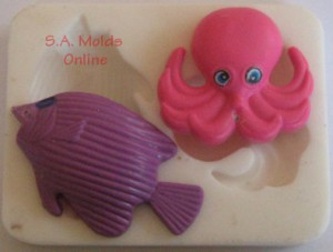 Octopus and Fish Silicone Mold