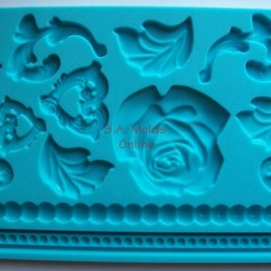 Rose and Rope Theme Set Silicone Mold