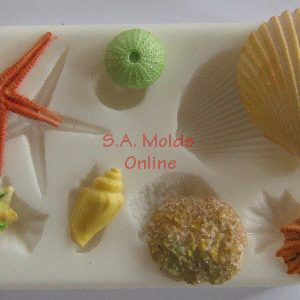 Shell and Beach Set Silicone Mold