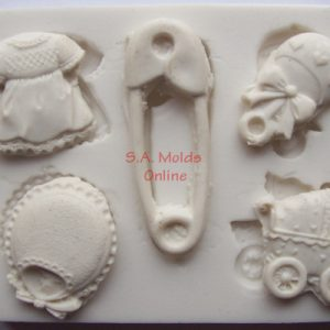 Silicone Mold of Baby Set