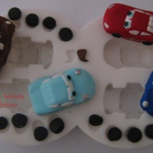 Cars 2 Cartoon Set Silicone Mold