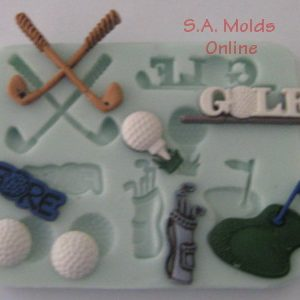 A Golf set silicone mold