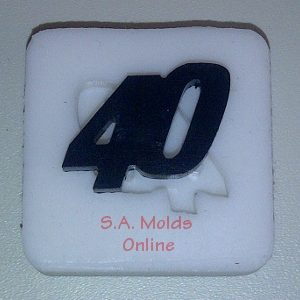 Number 40 Silicone Mold