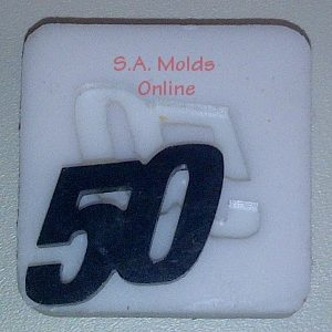 Number 50 Silicone Mold