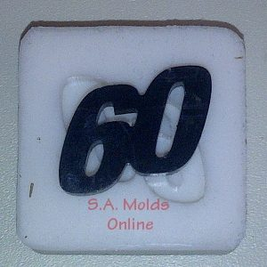 Number 60 Silicone Mold