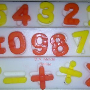 A Number Set silicone Mold