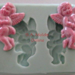 Angel with Harp Silicone Mold