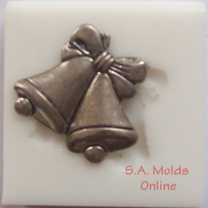 Bell with Bow Silicone Mold