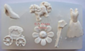 Carriage and Dress Silicone Mold