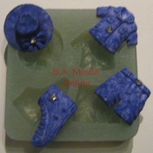 Denim Set Silicone Mold