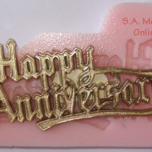 Happy Anniversary Silicone Mold