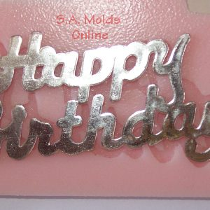 Happy Birthday Sign Silicone Mold