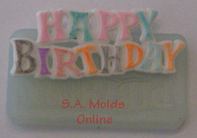 A Birthday Sign Silicone Mold