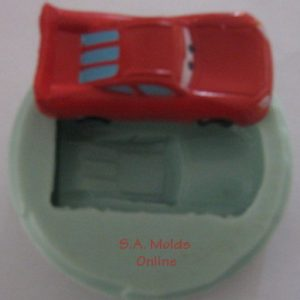 A Lightning McQueen Car Silicone Mold