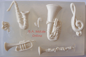 Music Set Silicone Mold
