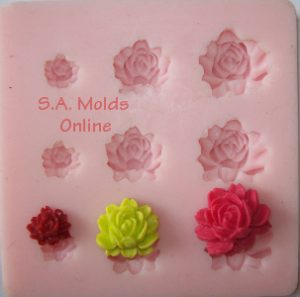 Peonie Set Silicone Mold