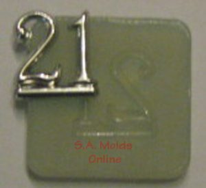 Number 21 Silicone Mold