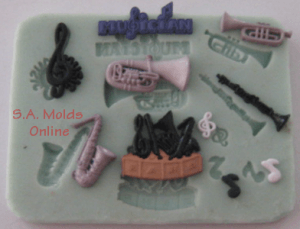 A Music Set Silicone Mold