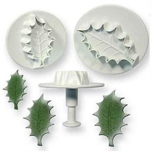 3pc Holly Leaf Cutter Plunger