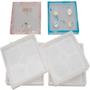 100 mm Square Coaster Molds for Resin