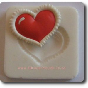 Border Heart Silicone Mold