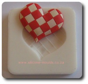 Checkered Heart Silicone Mold