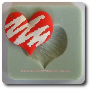 Lightning Heart Silicone Mould