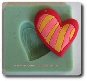 Wave Heart Silicone Mold